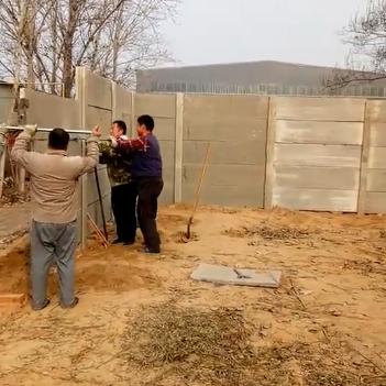 水泥板围墙安装