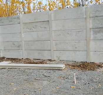 预制围墙搭建效果